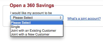 Capital One 360 joint account