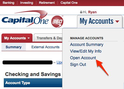 Capital One 360 Sub Accounts